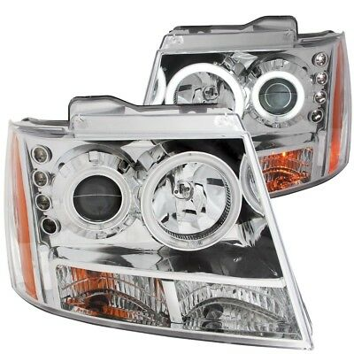 Headlight Assembly Anzo 111108 fits 07-14 Chevrolet Suburban 1500