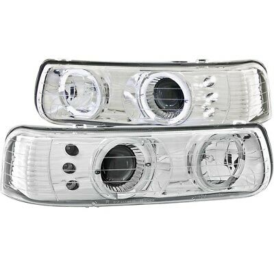 Headlight Assembly-Projector w/Halo Clear Lens LED Chrome fits 00-06 Tahoe