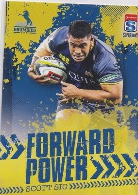 2017 Tap N Play Rugby Union Forward Power FP-03 Scott Sio Brumbies