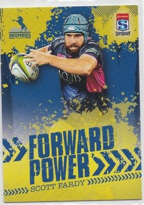 2017 Tap N Play Rugby Union Forward Power FP-03 Scott Fardy Brumbies