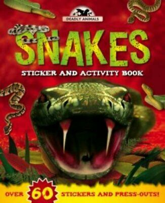 Deadly Animals: Snakes (Sticker and Activity) Book The Cheap Fast Free Post