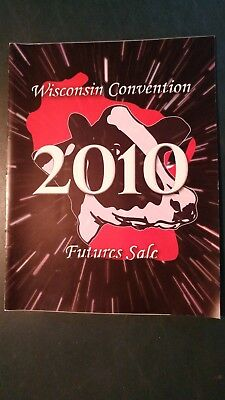 Wisconsin Convention Futures Holstein Sale Catalog 2010 Middleton Wi.