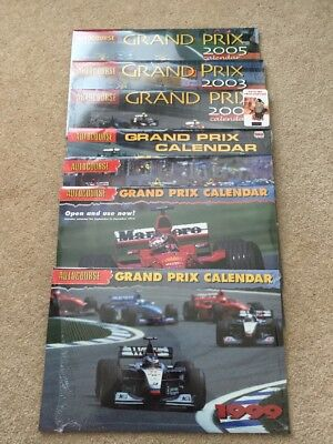 Collection of Formula 1 Autocourse Calendars 1999 to 2005 F1