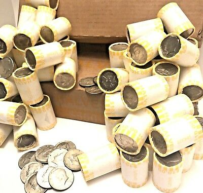 Five Unsearched Half Dollar Bank Roll-Possible Silver Kennedy Franklin Liberty