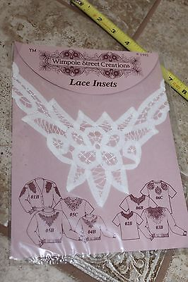 VINTAGE Lace Insets Insert Collar Wimpole Street Creations New Cotton