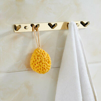 Brass Bathroom Accessories Wall Mount Hooks Hanger Bath Towel Clothes Hat Holder