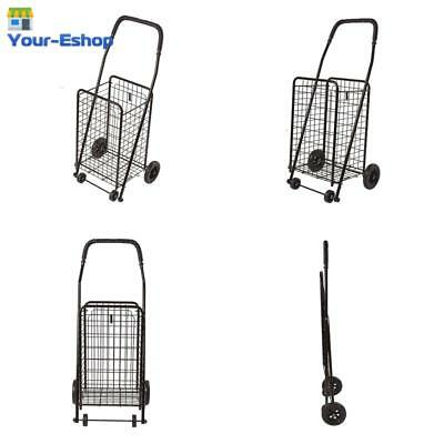 Folding Shopping Cart W/ Wheels Lightweight Utility Trolley Carts For Groceries