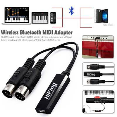 HiFing Wireless Bluetooth IN-OUT 5Pin DIN MIDI Interface Cable Converter Adapter