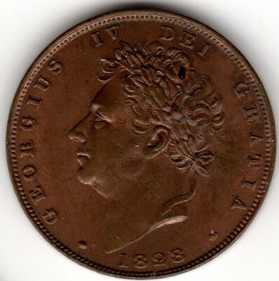1828 George IV Farthing Uncirculated
