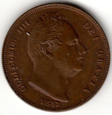 1837 George IV Farthing Uncirculated