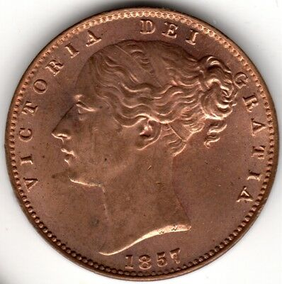 1857 Victoria Farthing Uncirculated