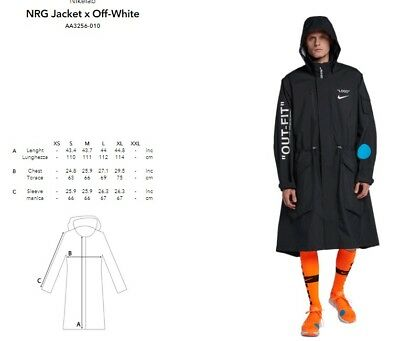 ff50494d7e50 NIKE X Off-White Sz XL Parka Jacket World Cup Football Mon Amour AA3256-