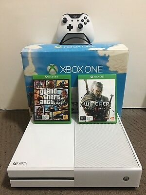 White Xbox One 500gb Console (SUNSET OVERDRIVE Special Edition) + 2 Games
