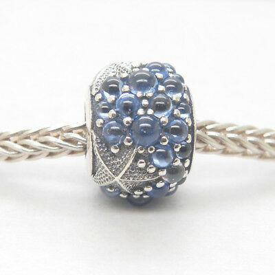 New Authentic Genuine 925 Sterling Silver Oceanic Starfish Frosty Mint CZ Bead
