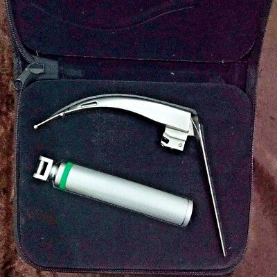 McCoy Fiber Optic Laryngoscope Set with Flex Tip Blade # 4, LED illumination