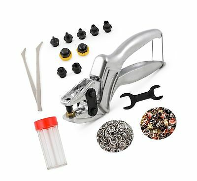 3-in-1 Heavy Duty Leather Hole Punch Set 1mm-6mm | Includes Eyelet Setter + S...