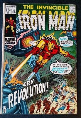 Iron Man 29 (Marvel, 1970) FIRST SERIES - EARLY ISSUE - SOLID MID-GRADE COMIC!