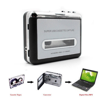 Tape to PC Super USB Cassette-to-MP3 Capture Audio Music Player CD Converte R9H9