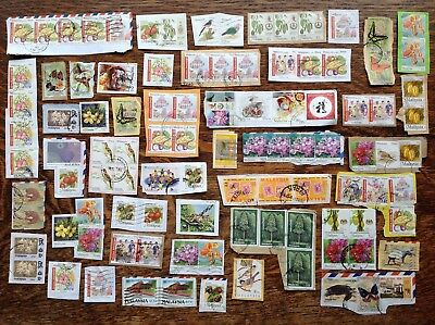 Collection Of Malaysia Stamps Kiloware