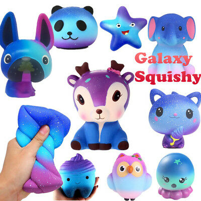 Galaxy Slow Rising Squishies Jumbo Squishy Squeeze Kids Toy Stress Reliever Aid