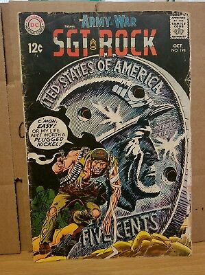 SGT. ROCK #198 (Oct. 1968) Our Army At War - DC Comics