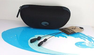 NEW AUTHENTIC COSTA DEL MAR SUNGLASS CASE, Wave Decal & Black C-Line Retainer
