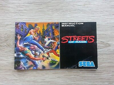 Streets of Rage Instruction booklet Manual for the Sega Mega Drive PAL
