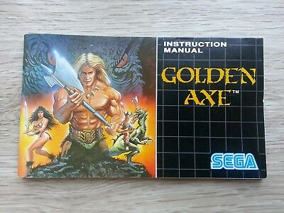 Golden Axe Instruction booklet Manual for the Sega Mega Drive PAL