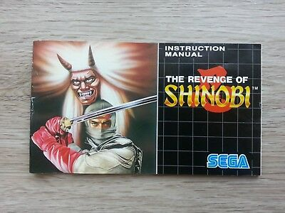 The Revenge of Shinobi Instruction booklet Manual for the Sega Mega Drive PAL