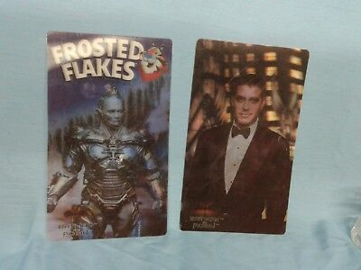 Vintage Cereal Premium BATMAN and Mr. Freeze Lenticular Pictures. Frosted Flakes