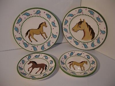 Creatively Yours Karen DeAlwis Horse Plates - Set of 4