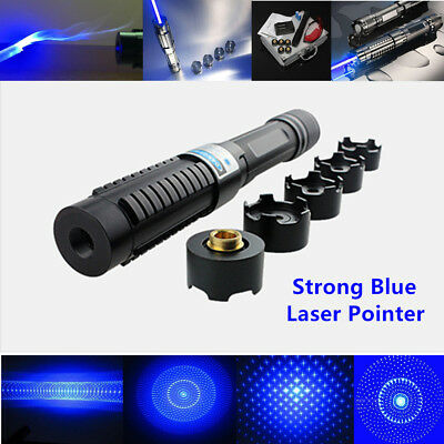 Extremely Powerful Military Laser Pointer Pen Set - Visible Blue Laser Beam