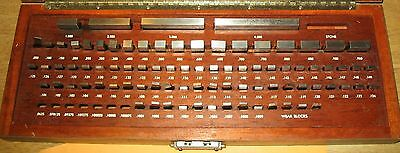 Brown & Sharpe Company Super-A Gage Blocks With Wooden Case-85 Pieces