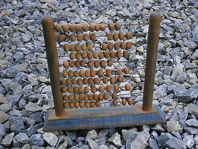 Antique Vintage Wooden Count Court Numeracy