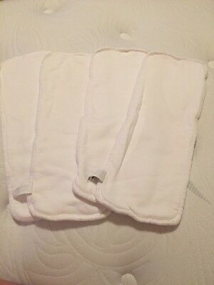 Lot of 4 Thirsties Hemp Liners Inserts Size Unknown