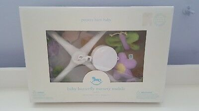 Pottery Barn Baby Butterfly Star Nursery Crib Mobile Music Box Hush Little Baby