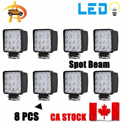 8x 48W LED Work Light Spot offroad Lamp Tractor Truck Boat ATV Jeep 4WD 4Inch