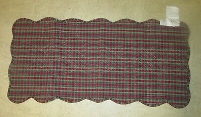 Longaberger Holiday Plaid Tree Trimming Reversible  Fabric Table Runner