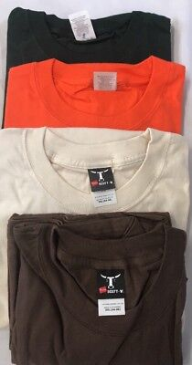 lot Of 4 Hanes beefy T-3XL men's pocketed Short-Sleeved T-Shirts 100% Cotton