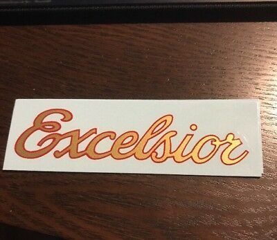 Mint Vintage Schwinn Approved Excelsior Bicycle Downtube Decal
