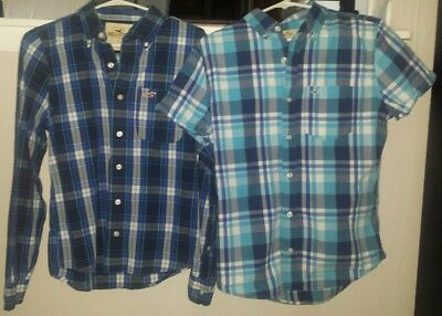 lot of 2 HOLLISTER guys/men's button up shirts size Small *EXCELLENT CONDITION!
