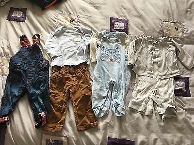 Baby Boys 6-9 Dungarees Trousers Bundle Next, Mothercare, F&F
