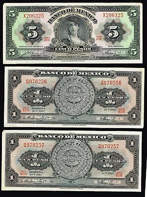 Mexico Currency Paper Money Lot