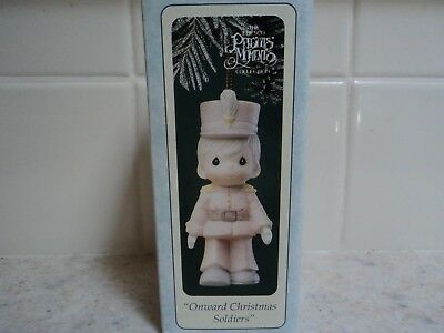 """1994 Precious Moments """"onward Christmas Soldiers"""" W/box- Buy Now/best Offer"""