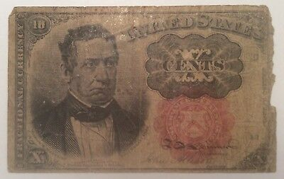 10 Cent United States US Fractional Currency Fifth 5th issue Good/G