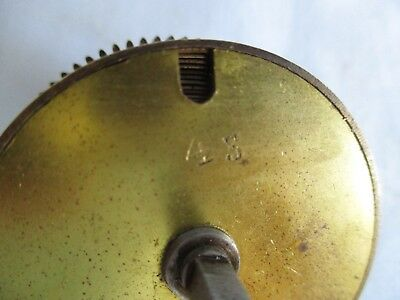 Hermle No 45 Clock Mainspring Barrel With Spring For Spares