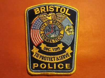 Collectible Connecticut Police Patch, Bristol, New
