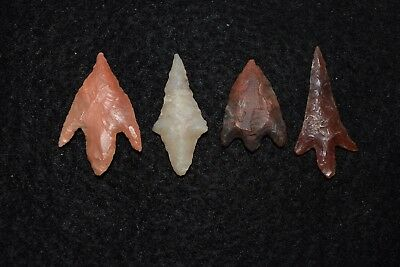 4 best quality Sahara Neolithic stemmed style projectile points