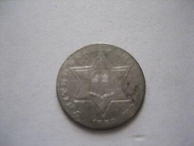 1858 3-Cent Silver US Coin
