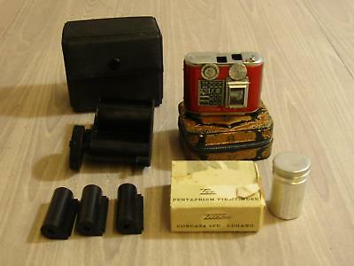 Tessina Automatic 35mm Miniature Camera Switzerland With Accessories Untested